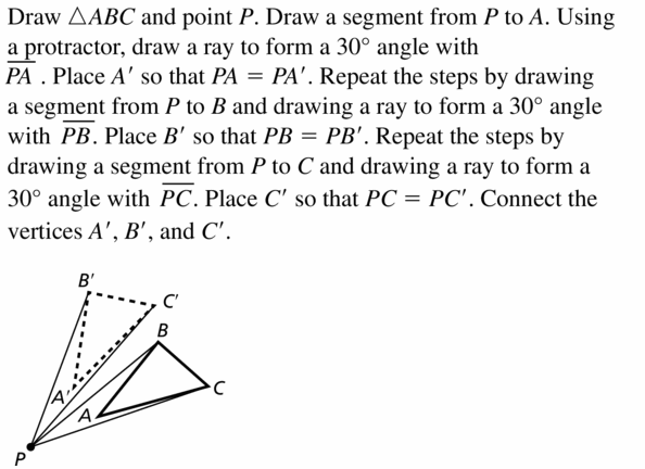 Big Ideas Math Geometry Answers Chapter 4 Transformations 4.3 Question 3