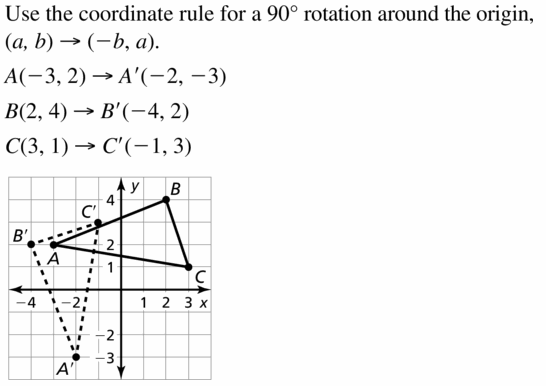 Big Ideas Math Geometry Answers Chapter 4 Transformations 4.3 Question 7