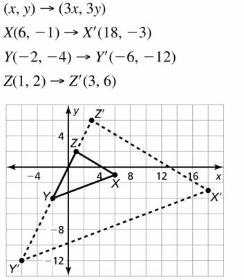 Big Ideas Math Geometry Answers Chapter 4 Transformations 4.5 Question 15