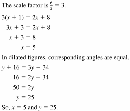 Big Ideas Math Geometry Answers Chapter 4 Transformations 4.5 Question 39