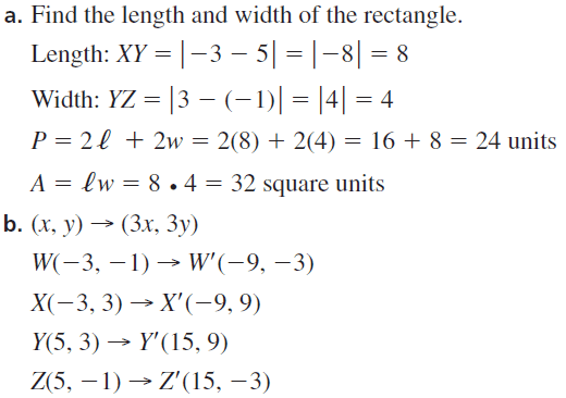 Big Ideas Math Geometry Answers Chapter 4 Transformations 4.5 Question 49.1