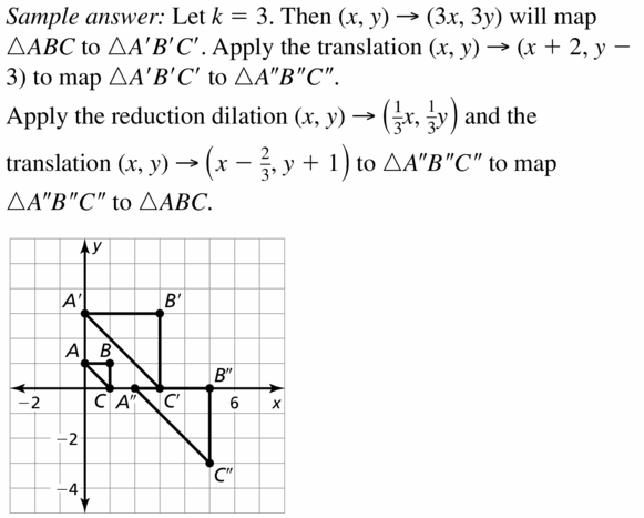 Big Ideas Math Geometry Answers Chapter 4 Transformations 4.6 Question 19