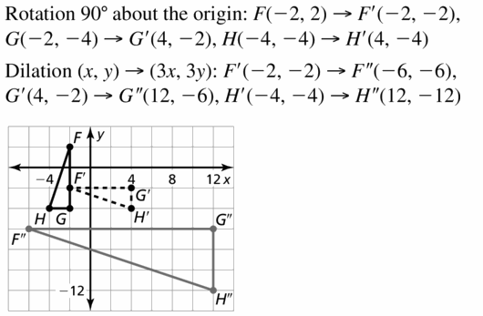 Big Ideas Math Geometry Answers Chapter 4 Transformations 4.6 Question 5