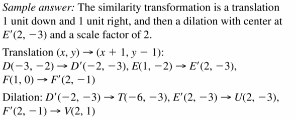 Big Ideas Math Geometry Answers Chapter 4 Transformations 4.6 Question 7