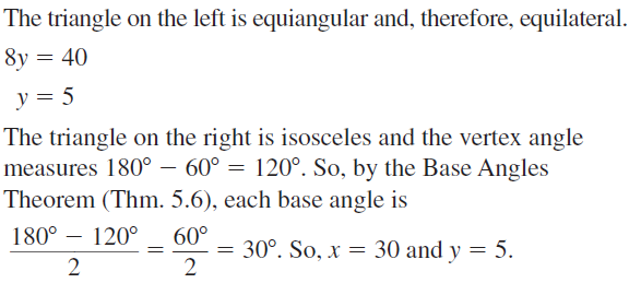 Big Ideas Math Geometry Answers Chapter 5 Congruent Triangles 5.4 a 15
