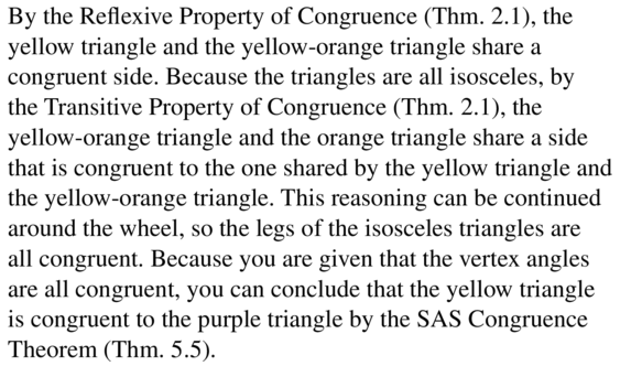 Big Ideas Math Geometry Answers Chapter 5 Congruent Triangles 5.4 a 25