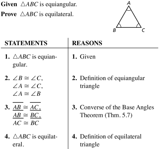 Big Ideas Math Geometry Answers Chapter 5 Congruent Triangles 5.4 a 39
