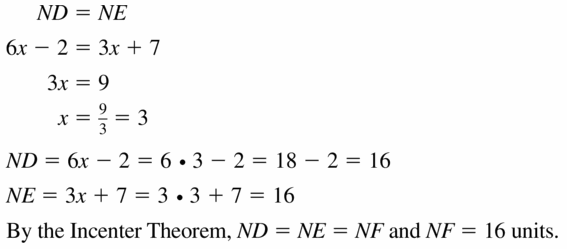 Big Ideas Math Geometry Answers Chapter 6 Relationships Within Triangles 6.2 Question 11