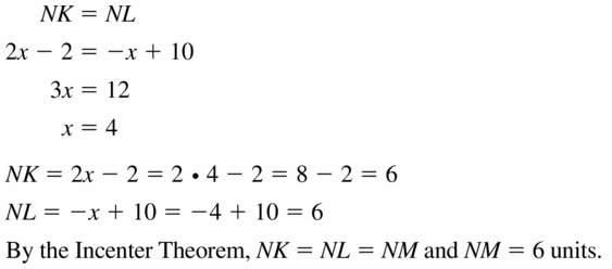 Big Ideas Math Geometry Answers Chapter 6 Relationships Within Triangles 6.2 Question 13