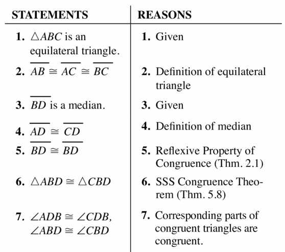 Big Ideas Math Geometry Answers Chapter 6 Relationships Within Triangles 6.3 Question 51.2
