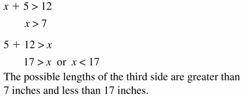 Big Ideas Math Geometry Answers Chapter 6 Relationships Within Triangles 6.5 Question 17