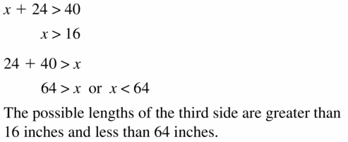 Big Ideas Math Geometry Answers Chapter 6 Relationships Within Triangles 6.5 Question 19