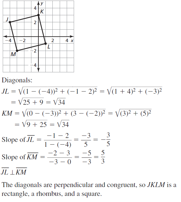 Big Ideas Math Geometry Answers Chapter 7 Quadrilaterals and Other Polygons 7.4 a 55