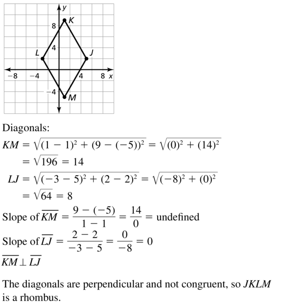 Big Ideas Math Geometry Answers Chapter 7 Quadrilaterals and Other Polygons 7.4 a 59