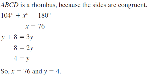 Big Ideas Math Geometry Answers Chapter 7 Quadrilaterals and Other Polygons 7.4 a 61