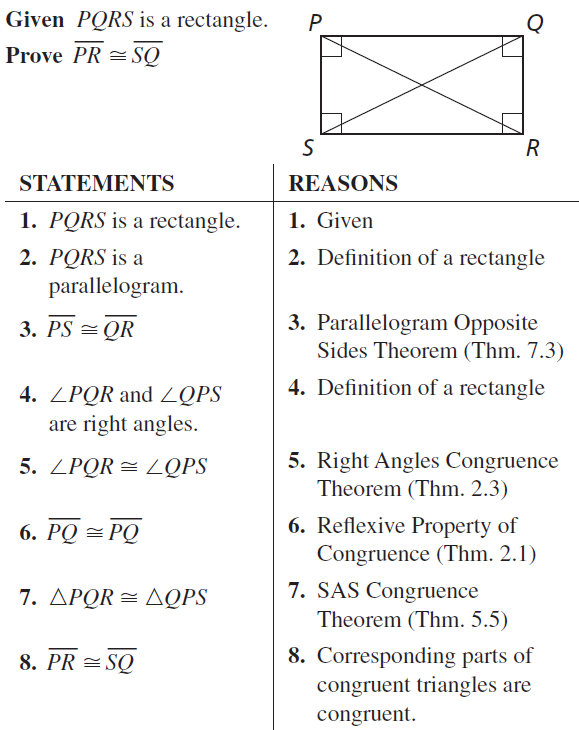 Big Ideas Math Geometry Answers Chapter 7 Quadrilaterals and Other Polygons 7.4 a 87