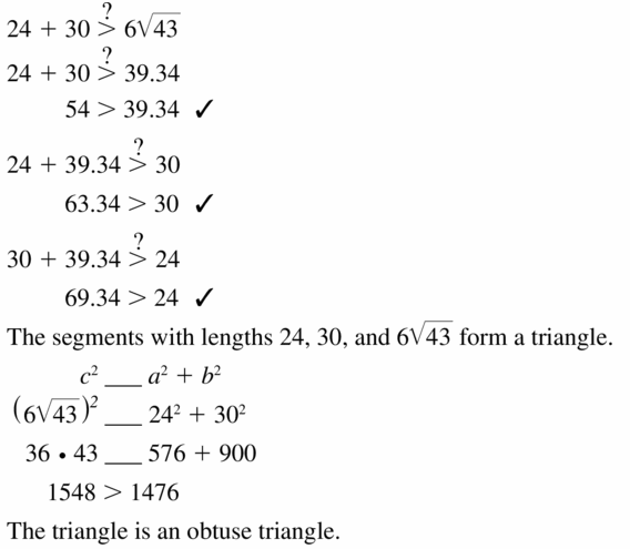Big Ideas Math Geometry Answers Chapter 9 Right Triangles and Trigonometry 9.1 Ans 27