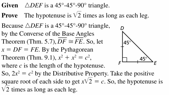 Big Ideas Math Geometry Answers Chapter 9 Right Triangles and Trigonometry 9.2 Ans 19