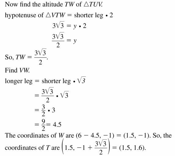 Big Ideas Math Geometry Answers Chapter 9 Right Triangles and Trigonometry 9.2 Ans 25.2