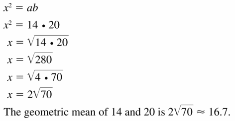 Big Ideas Math Geometry Answers Chapter 9 Right Triangles and Trigonometry 9.3 Ans 13