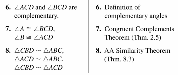 Big Ideas Math Geometry Answers Chapter 9 Right Triangles and Trigonometry 9.3 Ans 45.3
