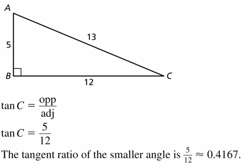 Big Ideas Math Geometry Answers Chapter 9 Right Triangles and Trigonometry 9.4 Ans 17