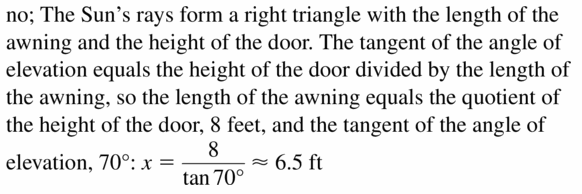 Big Ideas Math Geometry Answers Chapter 9 Right Triangles and Trigonometry 9.4 Ans 21