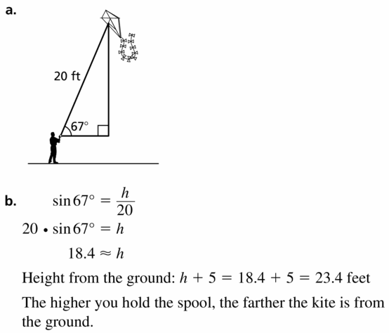 Big Ideas Math Geometry Answers Chapter 9 Right Triangles and Trigonometry 9.5 Ans 29
