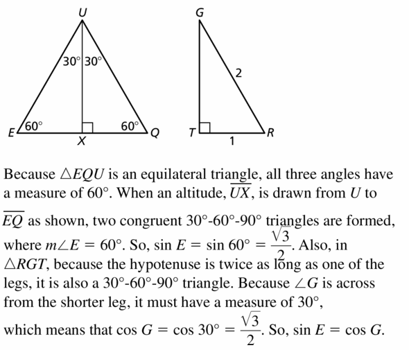 Big Ideas Math Geometry Answers Chapter 9 Right Triangles and Trigonometry 9.5 Ans 33