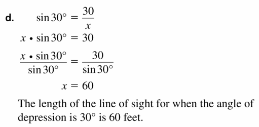Big Ideas Math Geometry Answers Chapter 9 Right Triangles and Trigonometry 9.5 Ans 37.3