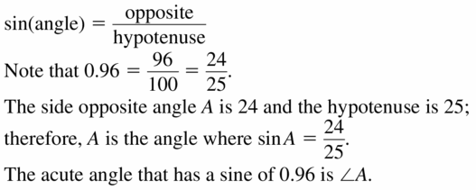 Big Ideas Math Geometry Answers Chapter 9 Right Triangles and Trigonometry 9.6 Ans 5