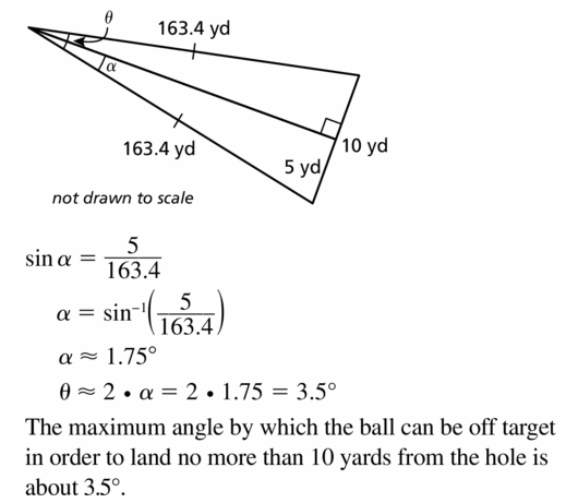 Big Ideas Math Geometry Answers Chapter 9 Right Triangles and Trigonometry 9.7 Ans 41.2