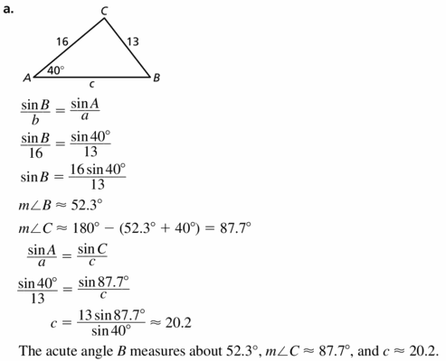 Big Ideas Math Geometry Answers Chapter 9 Right Triangles and Trigonometry 9.7 Ans 47.1