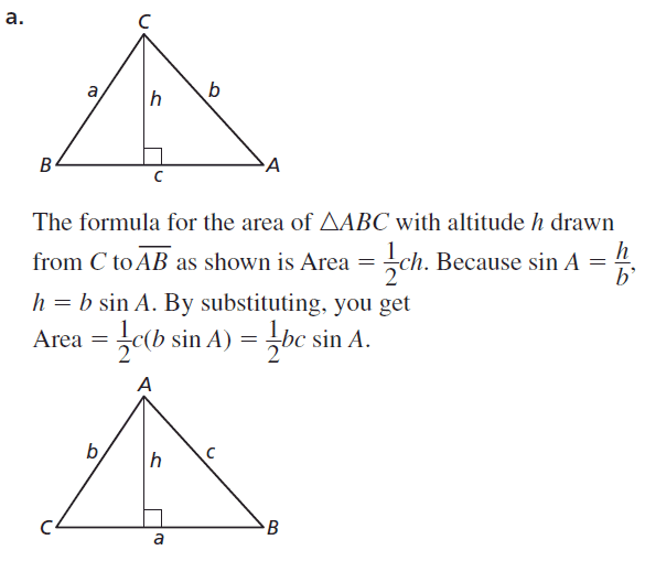 Big Ideas Math Geometry Answers Chapter 9 Right Triangles and Trigonometry 9.7 Ans 51.1
