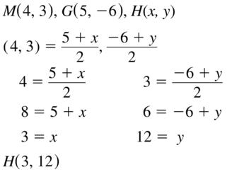 Big Ideas Math Geometry Solutions Chapter 1 Basics of Geometry 1.3 a 19