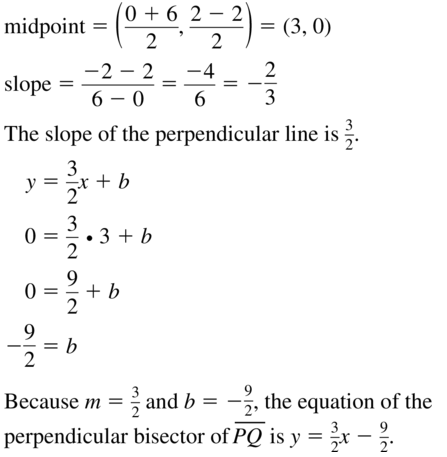 Big Ideas Math Geometry Solutions Chapter 3 Parallel and Perpendicular Lines 3.5 a 29