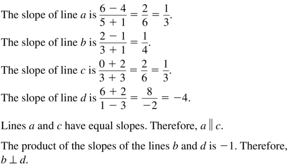 Big Ideas Math Geometry Solutions Chapter 3 Parallel and Perpendicular Lines 3.5 a 7