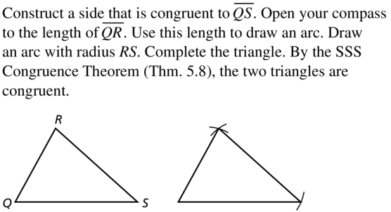 Big Ideas Math Geometry Solutions Chapter 5 Congruent Triangles 5.5 a 17
