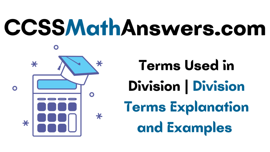 Terms Used in Division