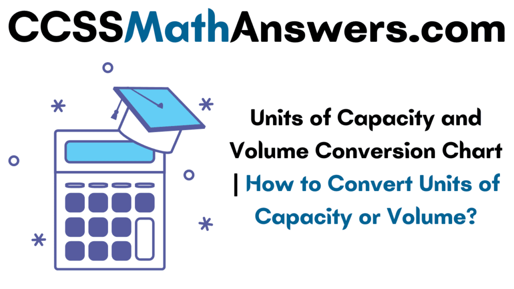 Units of Capacity and Volume Conversion Chart