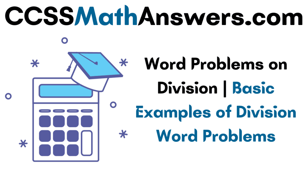 Word Problems on Division
