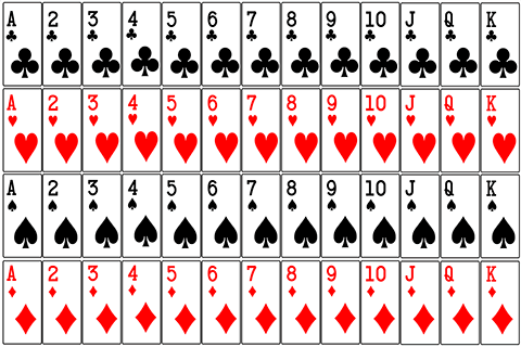 deck of 52 playing cards image