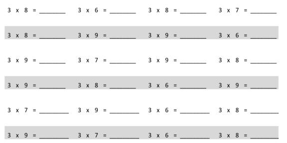 EngageNY Math Grade 3 Module 1 Lesson 12 Pattern Sheet Answer Key 2