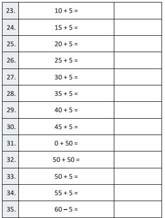Eureka Math Grade 3 Module 1 Lesson 18 Sprint Answer Key 23