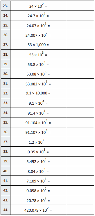 Eureka Math Grade 5 Module 1 Lesson 15 Sprint Answer Key 2