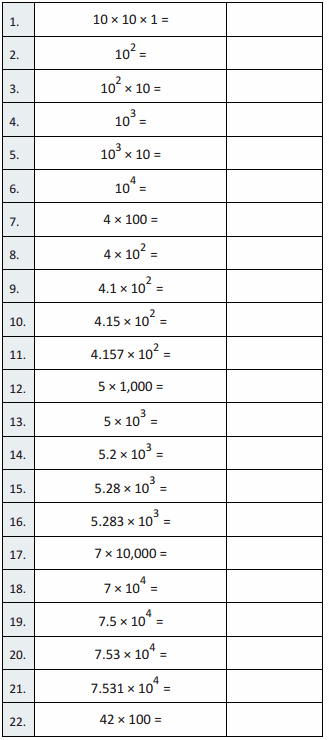 Eureka Math Grade 5 Module 1 Lesson 15 Sprint Answer Key 3