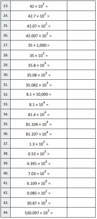 Eureka Math Grade 5 Module 1 Lesson 15 Sprint Answer Key 4