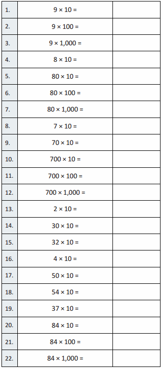 Eureka Math Grade 5 Module 2 Lesson 2 Sprint Answer Key 1
