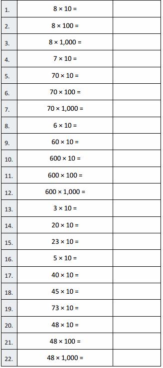 Eureka Math Grade 5 Module 2 Lesson 2 Sprint Answer Key 3