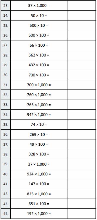 Eureka Math Grade 5 Module 2 Lesson 2 Sprint Answer Key 4